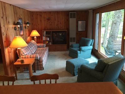 Photo for Rustic Cabin With Beautiful View Of Lake Minocqua.