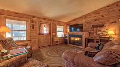 Upstairs Living Room. Door Leads to Front Deck with gorgeious views!