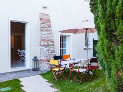 Photo for Apartment Ortensia in Country House Style with Private Garden, Wi-Fi & Shared Pool; Parking Available