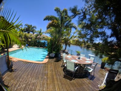 Photo for Coolie's Retreat - Waterfront Oasis with Pool & Beach