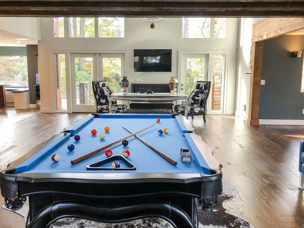 Atlanta Holiday House Luxurious IndoorOutdoor MidCentury - Pool table rental atlanta