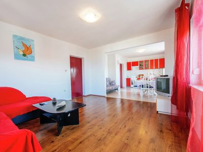 Photo for Spacious apartment with sea view balcony 150 meters far from nice sandy beach