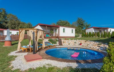 Photo for Holiday house with private pool No.8 in holiday park Jelovci