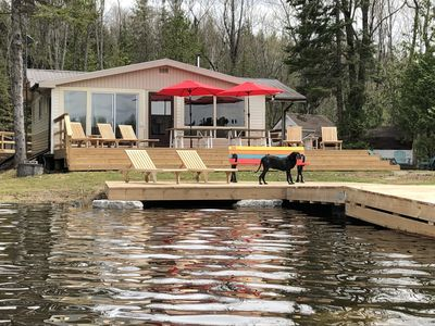 Main Cottage - Extra large decks and docks for outdoor living.