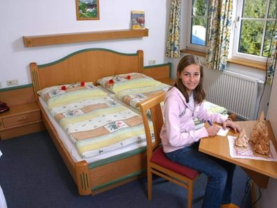 """Photo for Double Room - Arnica with shower, WC - Hiking Hotel """"Das Waldheim"""""""