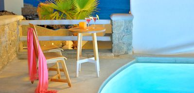 Photo for LOCATION, QUALITY LIVING. Anais Luxury Mykonos Exclusive Maisonette 2br 4guests private pool