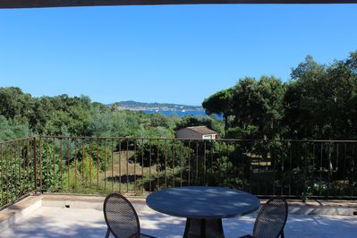Superb views from the terrace to the sea