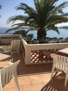 Photo for loft style apartment, 150m from the beach, stunning sea views, San Peire
