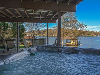 Photo for Waterfront Home, Sleeps 10, Hot Tub, Pool Table, Wifi