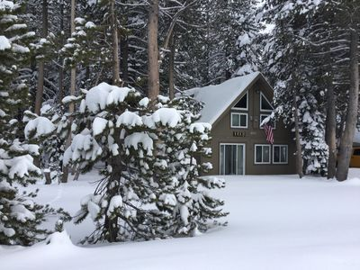 Photo for 'Yuba Family Cabin', Smaller affordable family home, close to sledding!