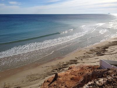 Photo for MIL PALMERAS, Orihuela Costa, directly on the beach, TOP sea view, comp. Balcony, elevator