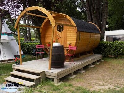 Photo for Camping L'Etang du Pays Blanc *** - Barrel 2 rooms 2 people