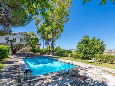Photo for Stylish villa with spectacular views and swimming pool.