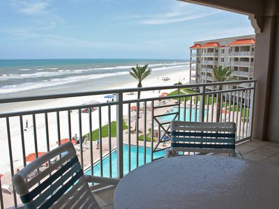 Photo for Comfortable Fifth floor three bedroom, three bath oceanfront.  Fantastic ocean views and cool breeze