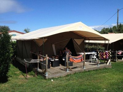 Photo for Camping Les 2 Vallées *** - Tent Safari 3 Rooms 5 Persons
