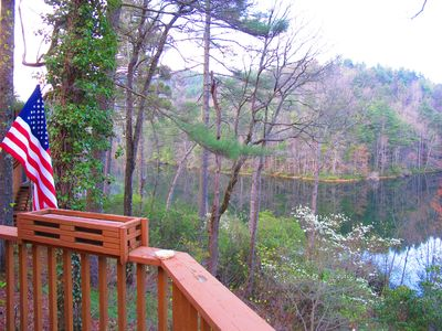 Photo for Lakefront 4 BR 3 BA Mountain Cashiers Home - No Fees by Owner