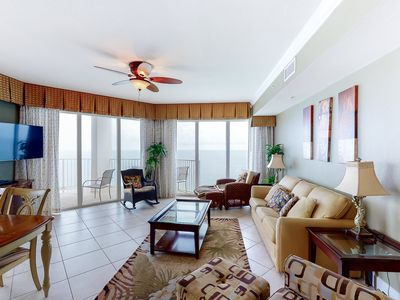 Photo for Gulf-front, 23rd-floor condo w/ resort pools, hot tubs & beach service!