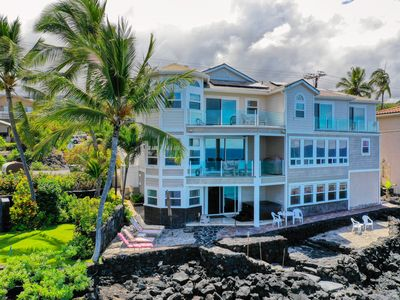 Photo for Kona Private Oceanfront Luxury Home with Beach and Jacuzzi