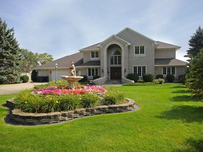 Photo for Year Round Luxurious 6 BR/4 ½ BA Home / 22 Ft. Pontoon Boat Included in Season!