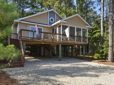 Photo for FREE ACTIVITIES INCLUDED! This charming 3 bedroom, 2 bath beach home offers a large open great room and decks located on both front and back.