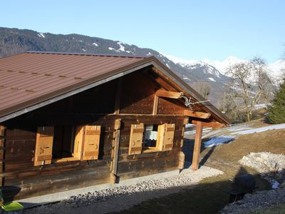 Photo for Little House in the meadow. Pets welcome .Haute Savoie -74300 -