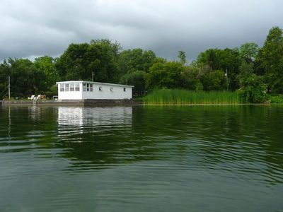 Boathouse cottage with very private setting.