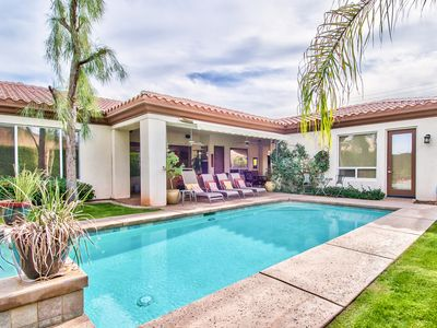 Photo for Pure Luxury in the Desert. 4 Bd, 4 Bth W/Detached Casita. Salt water Pool & Spa.