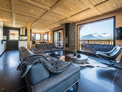 Photo for Chalet on the slopes with pool and home theater