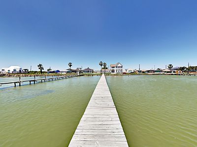 Photo for New Listing! Bayside Cottage w/ Private Pier, Tiki Picnic Hut & Fenced Yard
