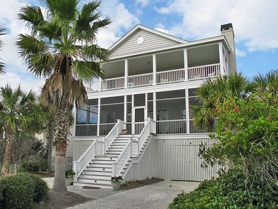 Photo for Paradise Found home on Isle of Palms ~ PRIVATE POOL, ELEVATOR, STEPS FROM BEACH!