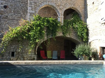 "Photo for ""la Magnanerie"" in Ardèche with heated swimming pool in stone house from 1872"