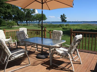 Photo for 4-Bedroom Home on Muskegon Lake with beautiful lake breezes in quiet setting