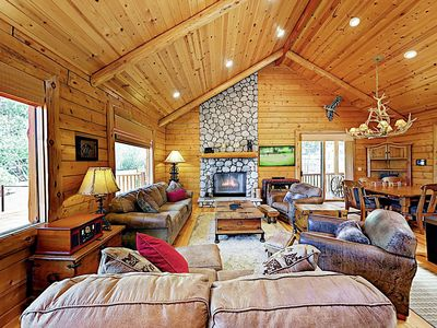 Living Room - Welcome to Branchwater Lodge! This home is professionally managed by TurnKey Vacation Rentals.