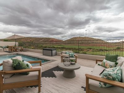 Photo for Sleeps 50! Closest 15 Bdrm to Zion National Park- Private Pool views of Coral Canyon Golf Course