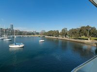 The selling point of this property is that it is on the third floor looking over Rushcutters Bay -