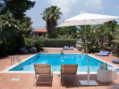 Photo for A surrounded garden Villa, in the proximity of Catania and Etna