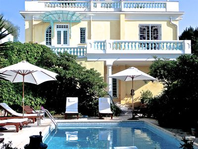 Photo for Mont Boron 'Belle Epoque' Villa. Panoramic sea view. Heated private pool