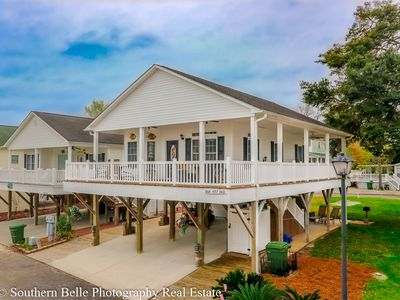 Photo for Tropical Paradise on Stilts! **Huge Deck** Golf Cart Included
