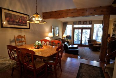 Dining room with view of Gore Creek