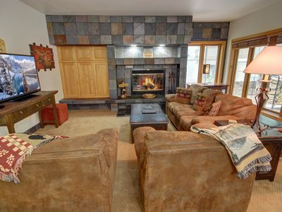 Photo for Beautiful 3 bedroom ground floor property in Chateax Dumont that features a full size private hot tub!  Chateax Dumont is true luxury and is the closest you can be to the lifts on the Mountain House side of Keystone Resort.