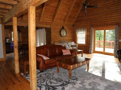 Photo for Lake Anna Log Home - Large Groups - Wine Country