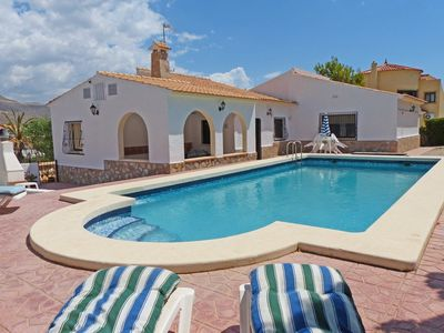 Photo for 3 DOUBLE BEDROOMS, AIR-CON VILLA WITH LARGE PRIVATE POOL & BARBECUE !!!