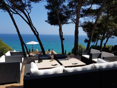Photo for Spectacular villa in front of the Mediterranean sea