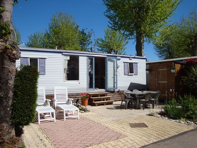 Photo for Mobile home on a very pretty mostly privately owned site with all amenities....