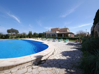 Photo for Beautiful country house finca for 17 (+3) people- with large, private pool and g