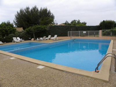 Photo for Pleasant T2 with nice big garden in residence with swimming pool, parking, wifi