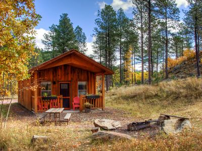 Photo for Charming, well-appointed cabin, near Mt Rushmore, view, great location, peaceful