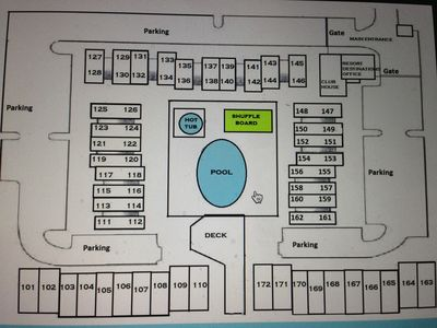 plot map - unit 161 is right side - first corner unit closest to beach of 2 bdrm