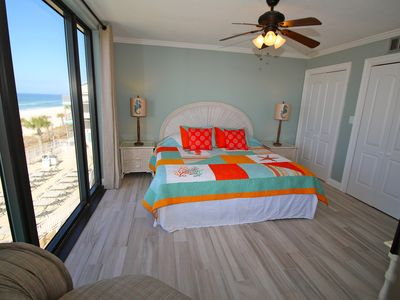Master Bedroom with king size bed and private bathroom
