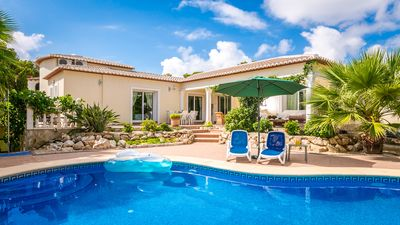 Photo for Villa Caroline luxury modern 5 bed heated pool very private A/C all rooms